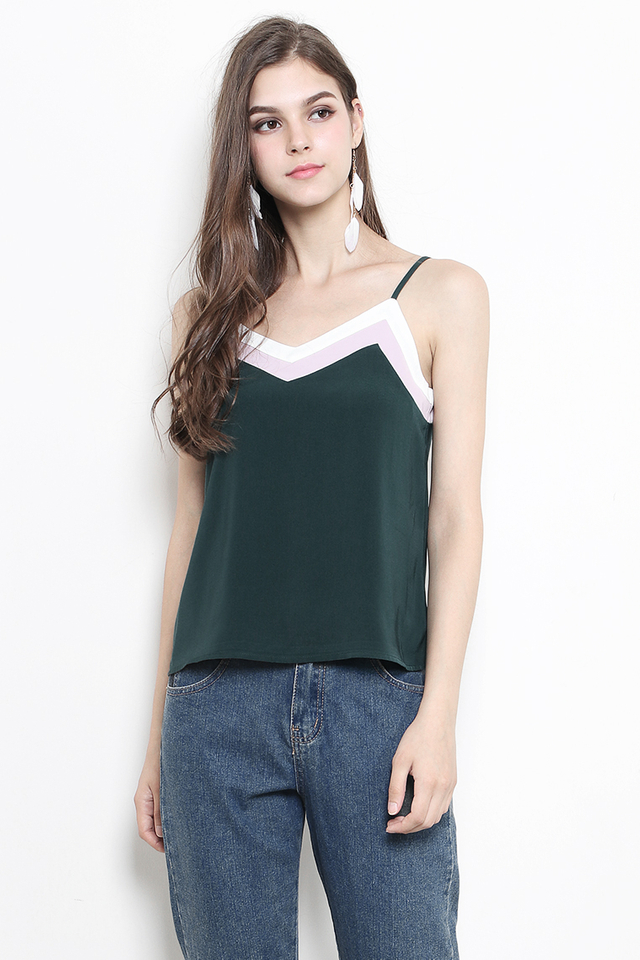 Bently Colourblock Top Forest