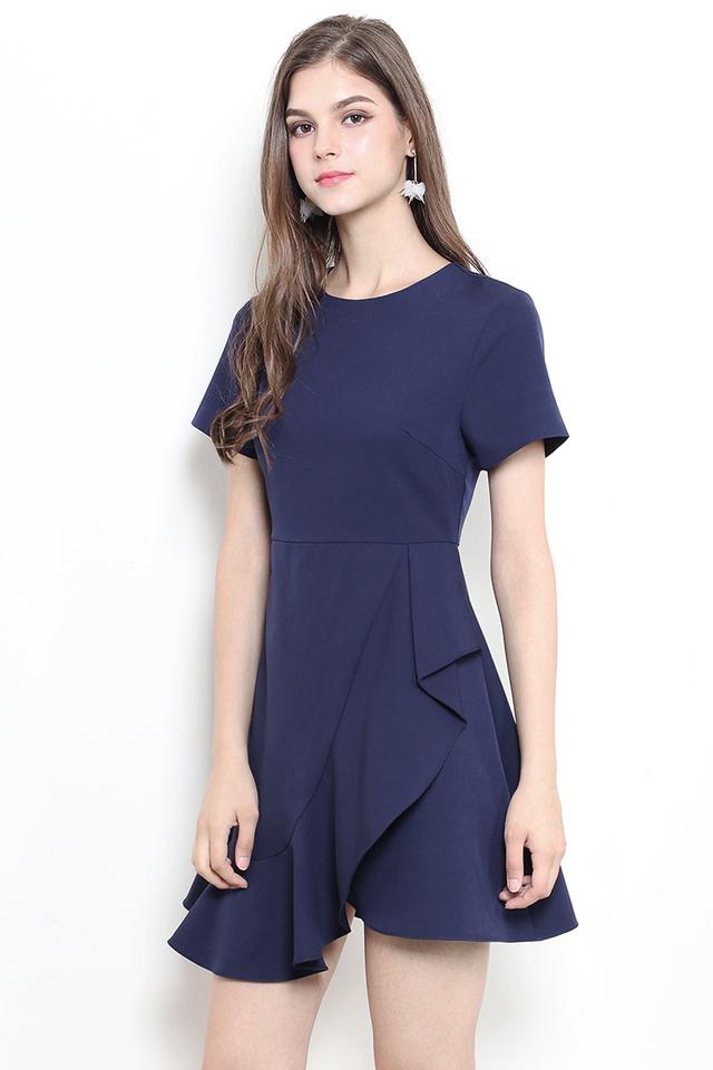 Safire Dress Navy