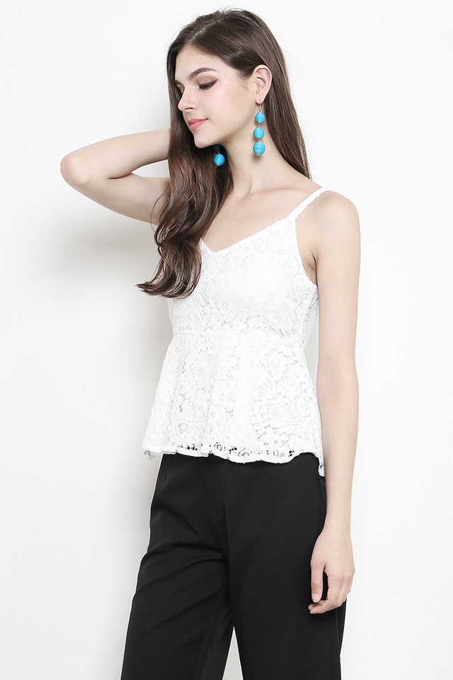 Cloe Lace Top White