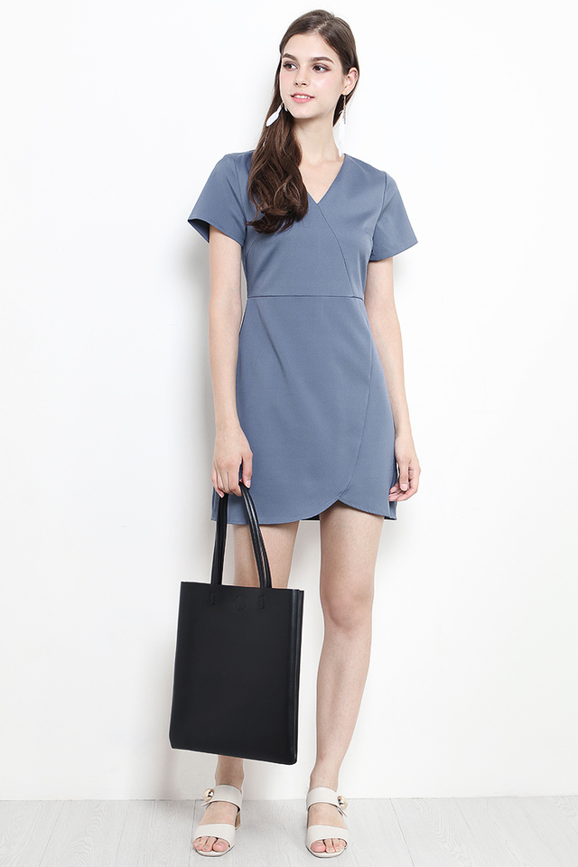 Abbie Dress Ash Blue