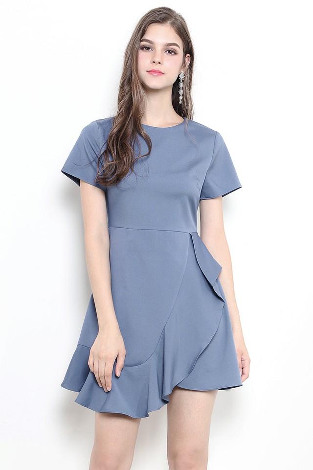 Safire Dress Ash Blue