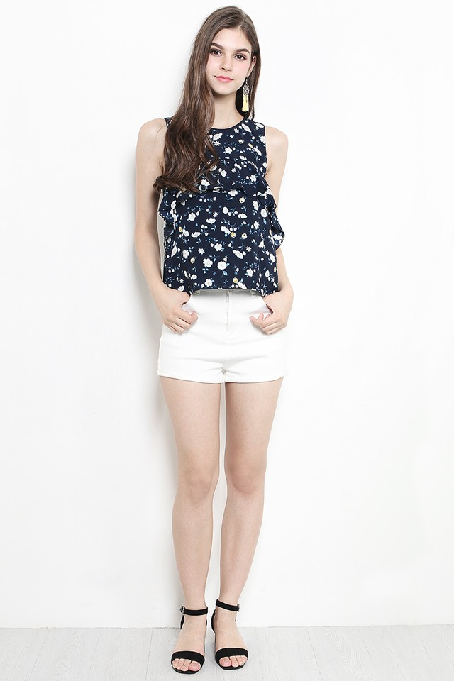 Clover Top Navy Floral