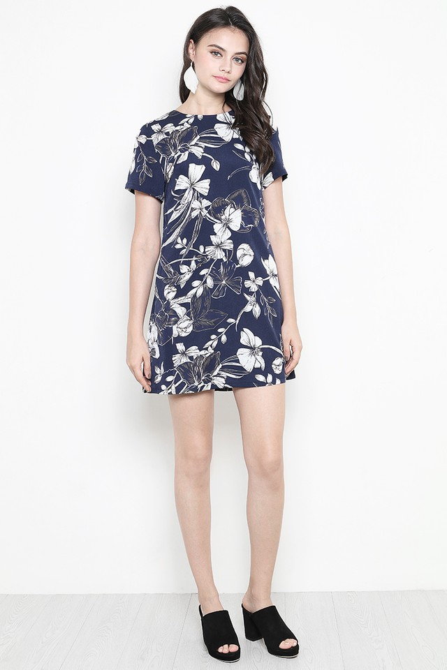 Kaye Dress Navy Floral