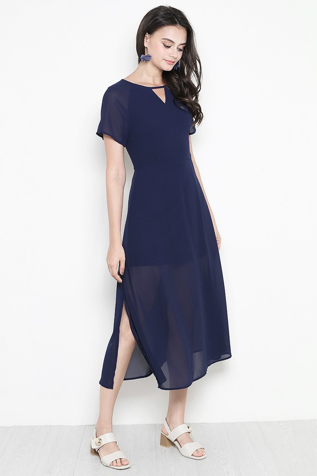 Rhoda Dress Navy