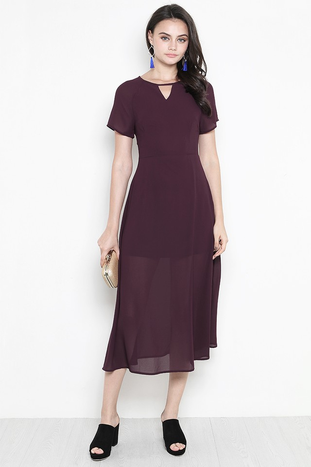 Rhoda Dress Burgundy