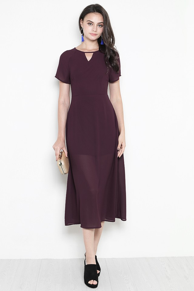 Rhoda Dress Burgundy