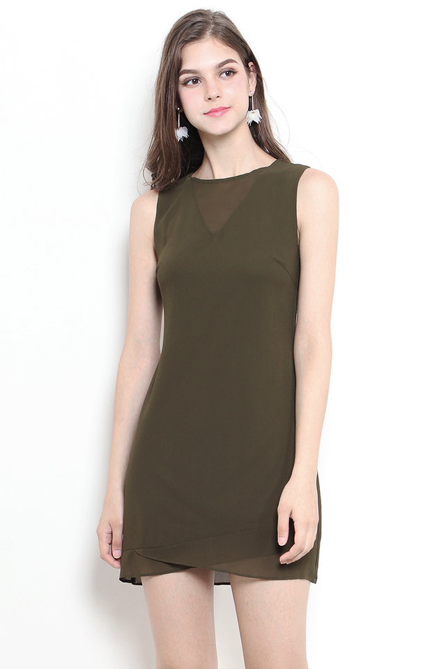 Stacia Dress Army