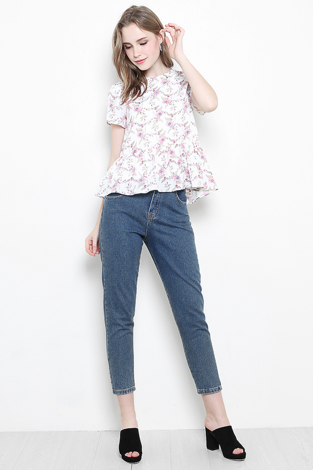 Kasey Top White Floral