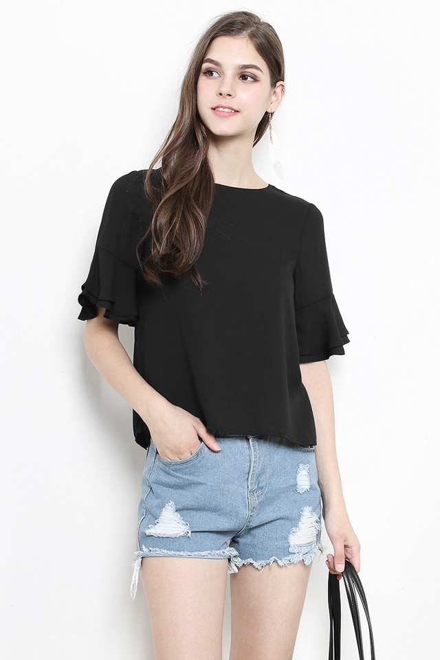 Fiora Top Black