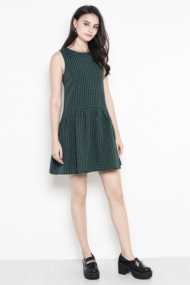 Bessie Dress Forest Gingham