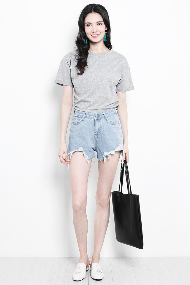 Raisa Basic Tee Grey