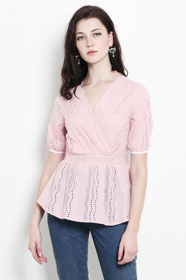 Yatta Crochet Top Pink
