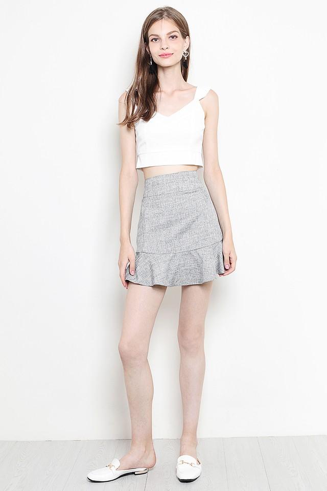 Verity Skirt Grey Tweed