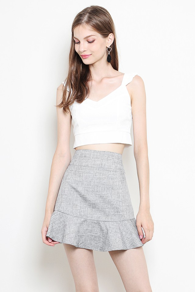 Verity Skirt Grey Tweed