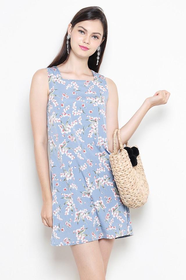 Bianca Dress Ash Blue Floral