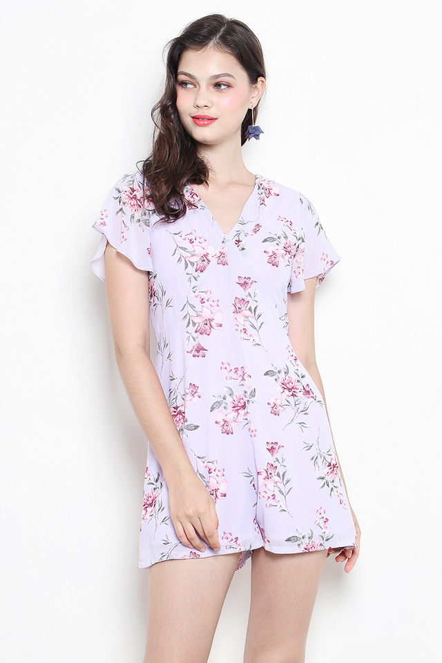 Kellie Playsuit Lilac Floral