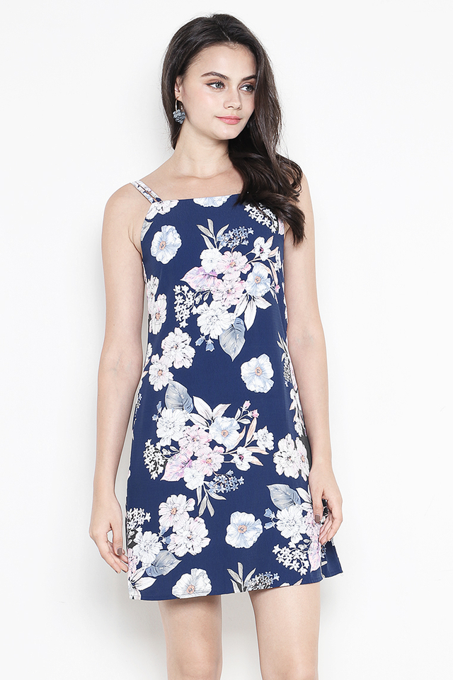 Catarina Dress Navy Floral