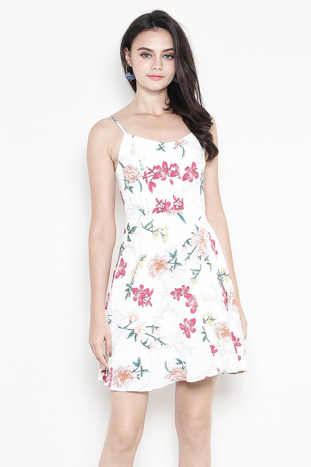 Dorrine Dress White Floral