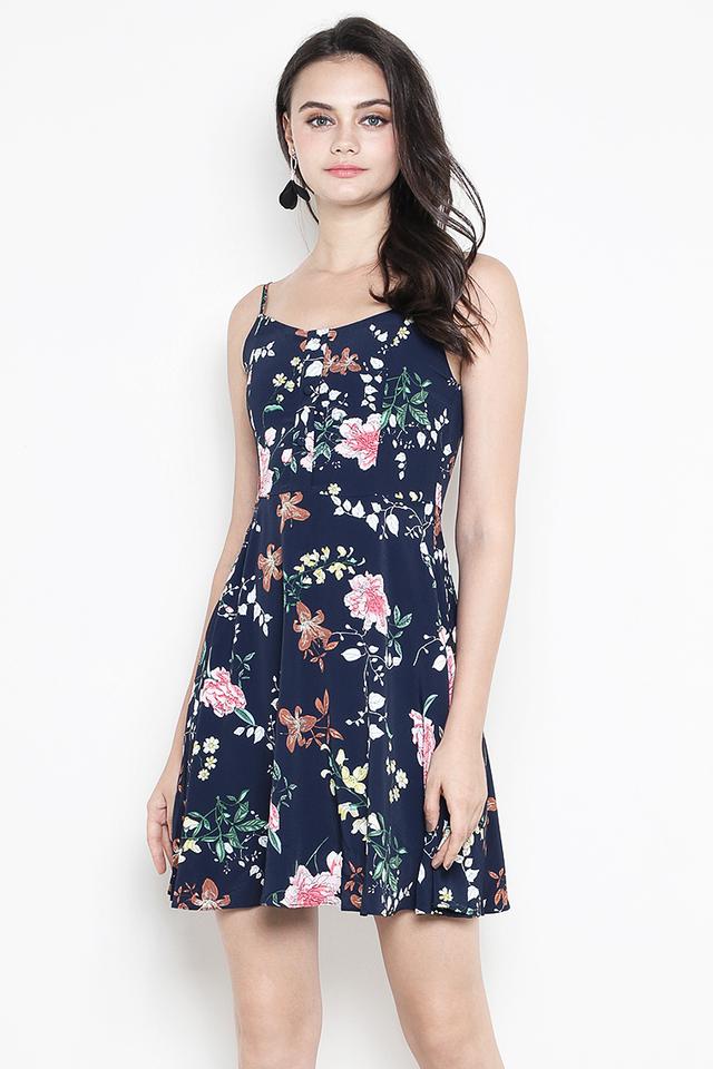 Dorrine Dress Navy Floral