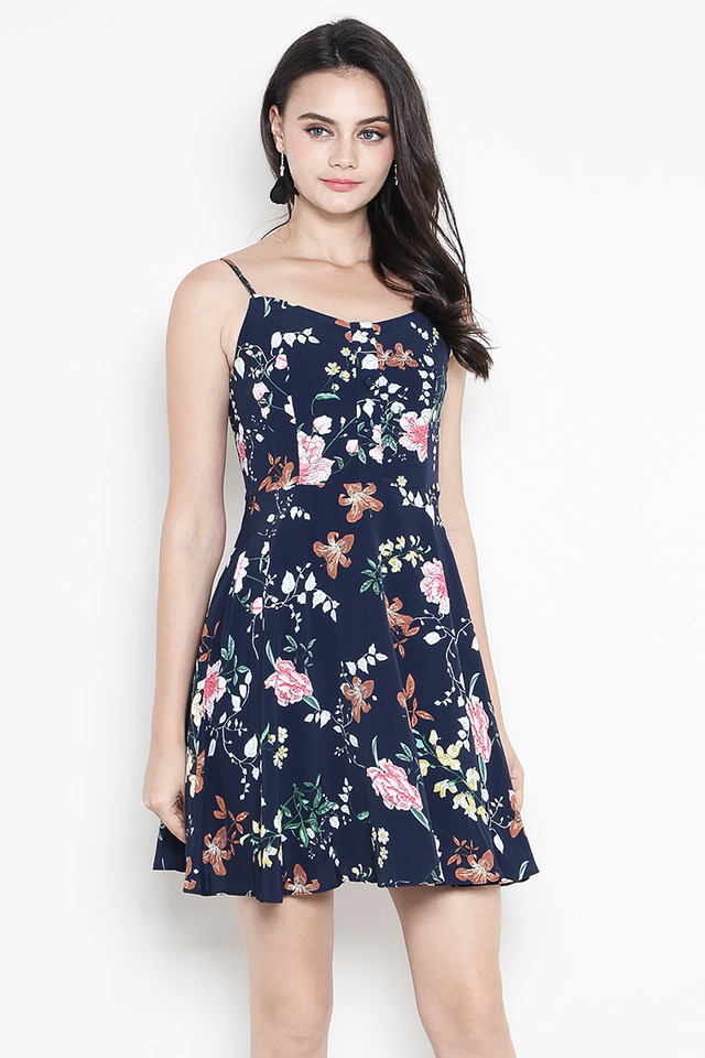 Dorrine Dress Navy Floral