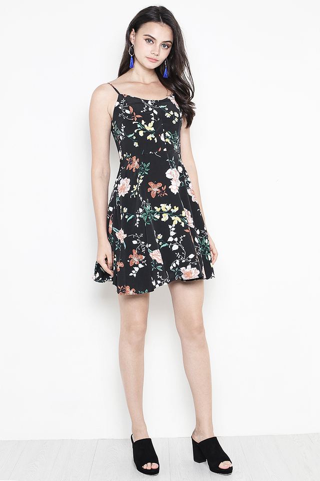 Dorrine Dress Black Floral