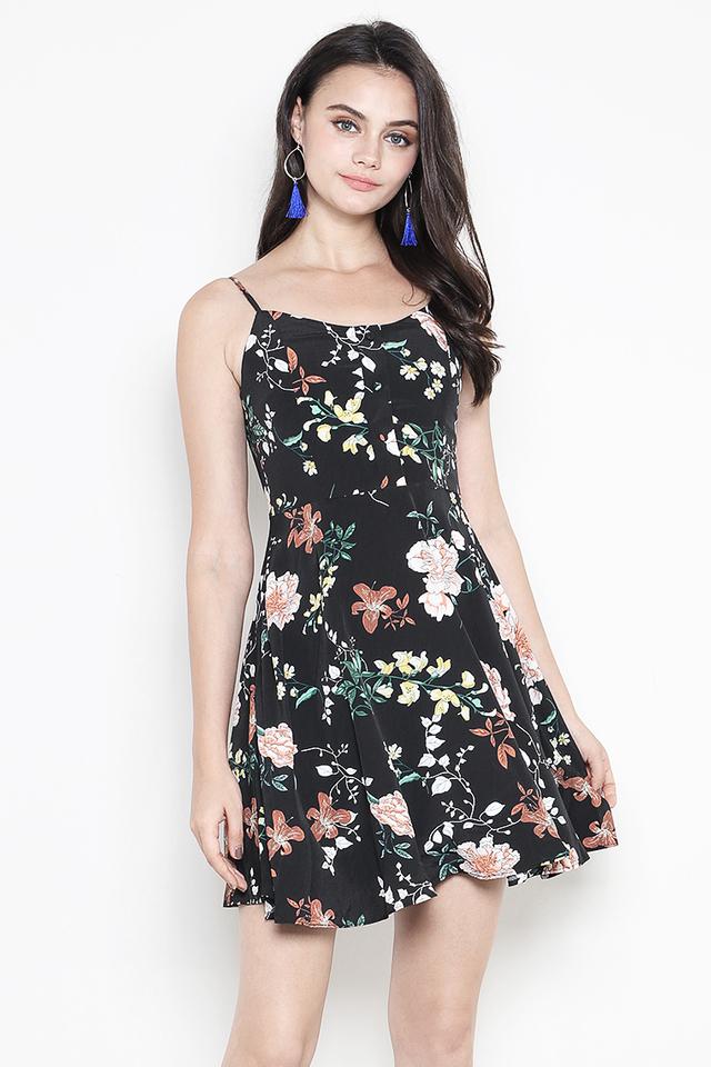 Dorrine Dress Black Floral