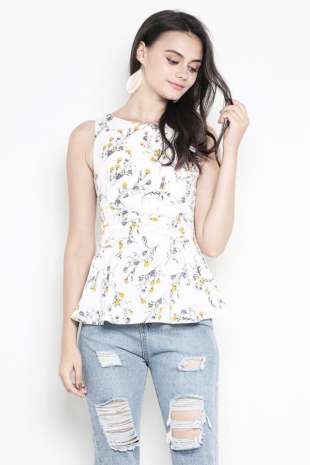 Verena Top White Floral