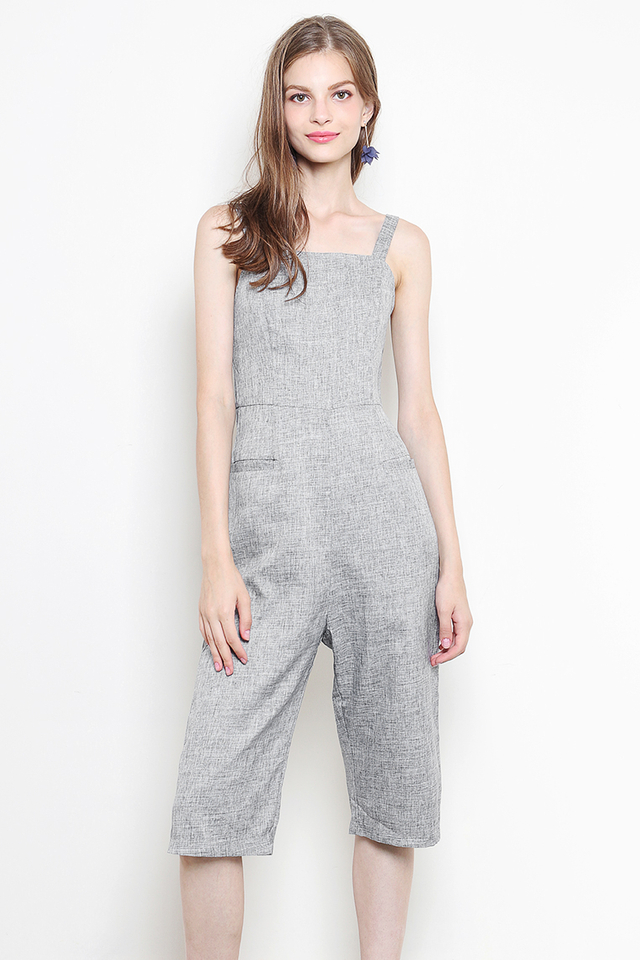 Jany Jumpsuit Grey Tweed