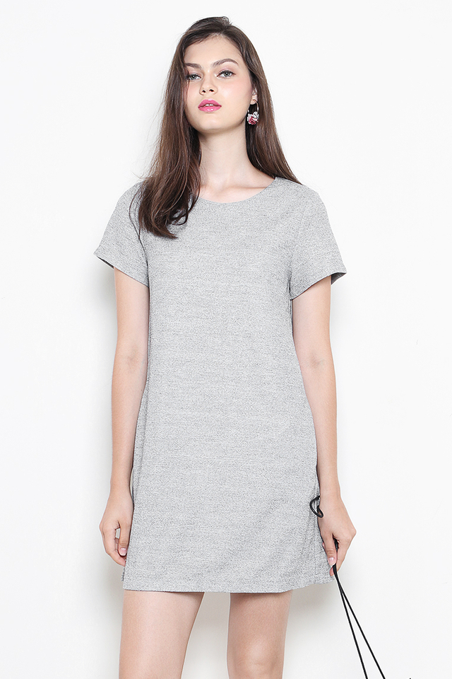 Verin Dress Grey Tweed