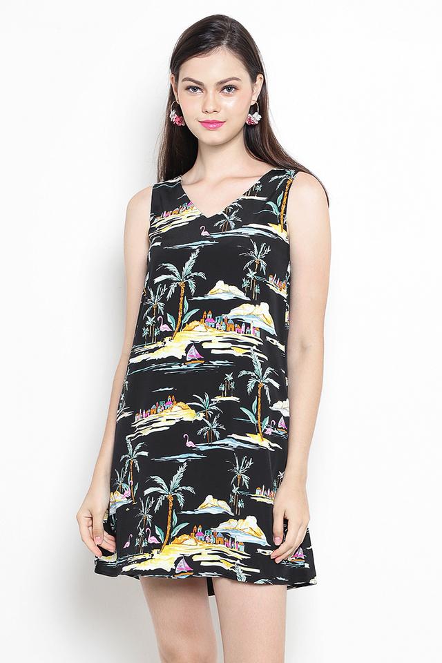 Islander Dress Black