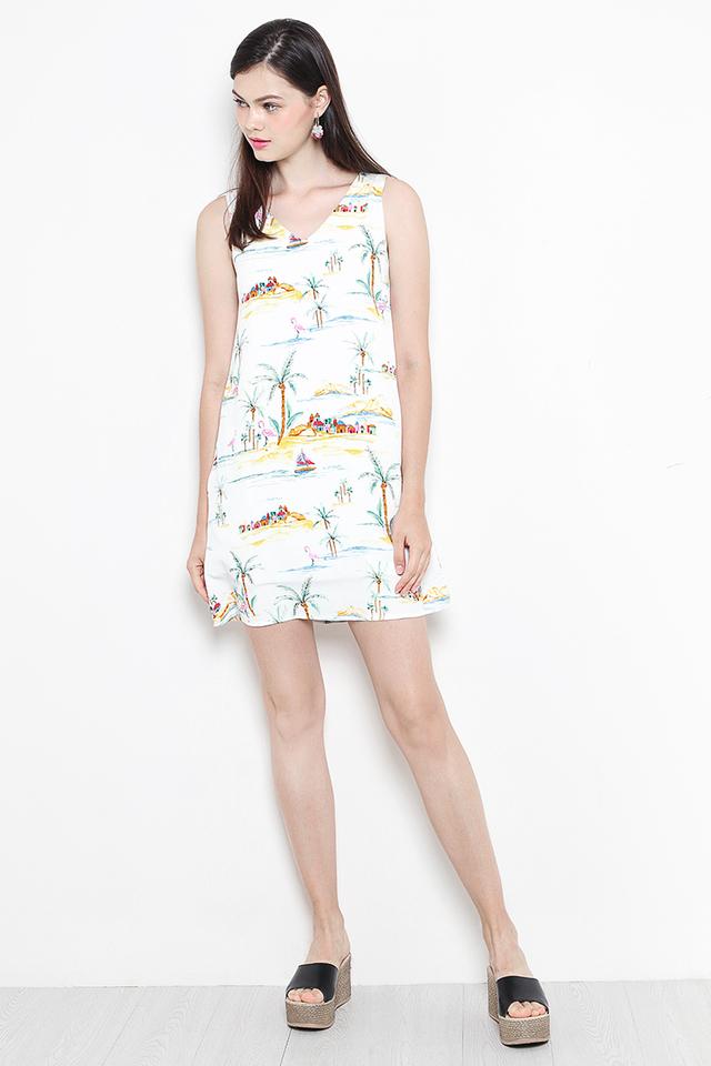 Islander Dress White