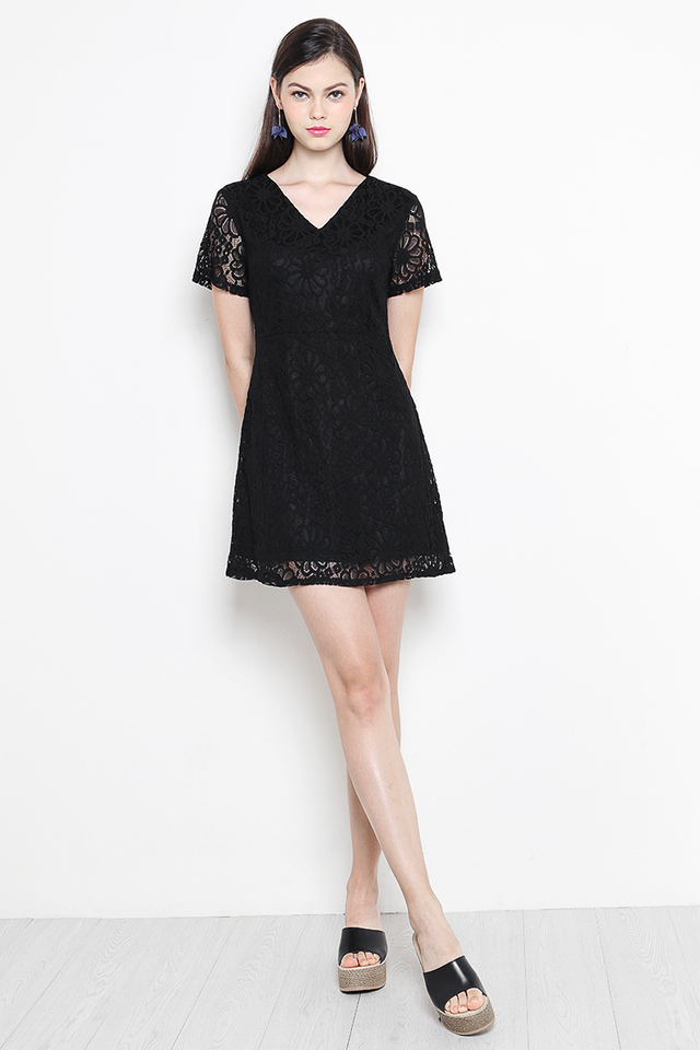 Anica Lace Dress Black