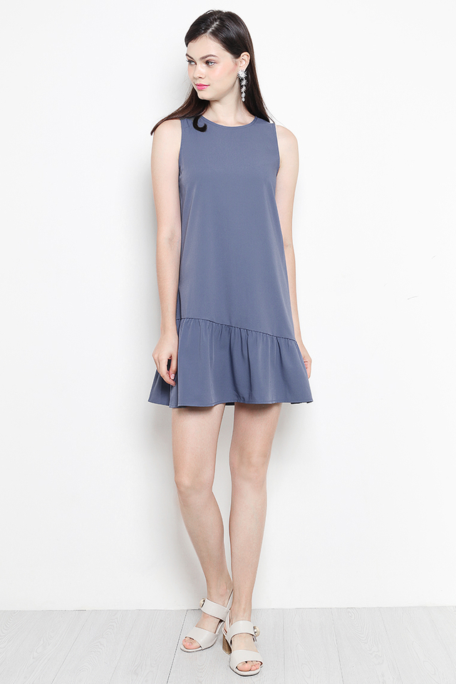 Lauryn Dress Ash Blue