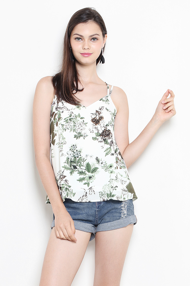 Ethel Top White Floral