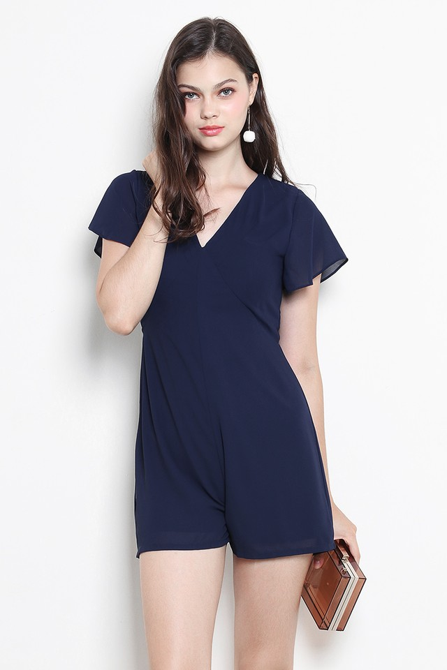 Kellie Playsuit Navy