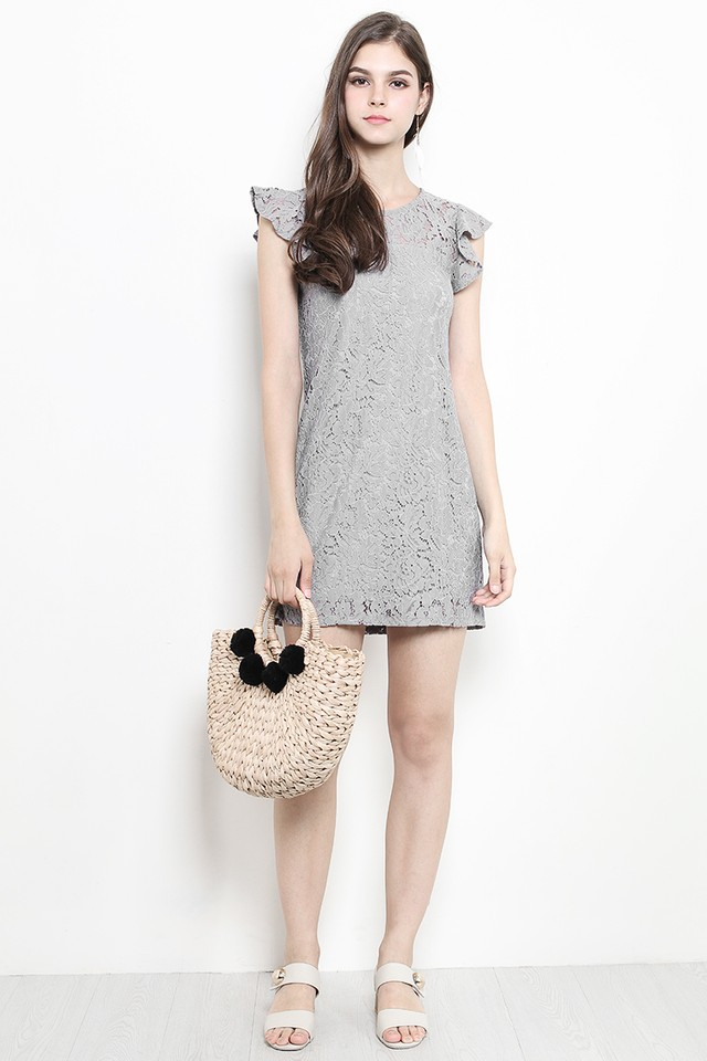 Olwyn Lace Dress Grey