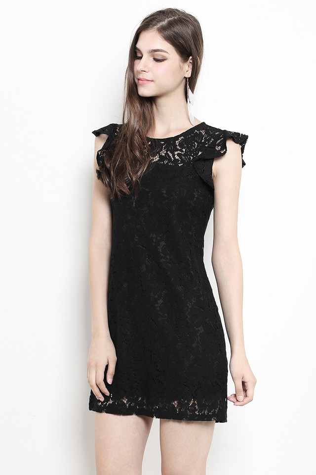 Olwyn Lace Dress Black