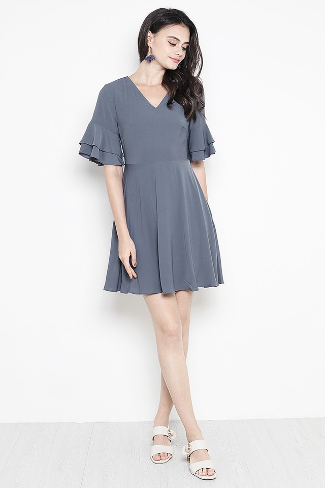 Jerin Dress Slate Grey