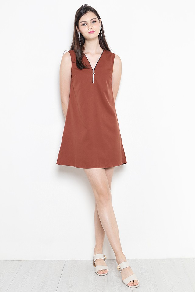 Skye Dress Burnt Orange