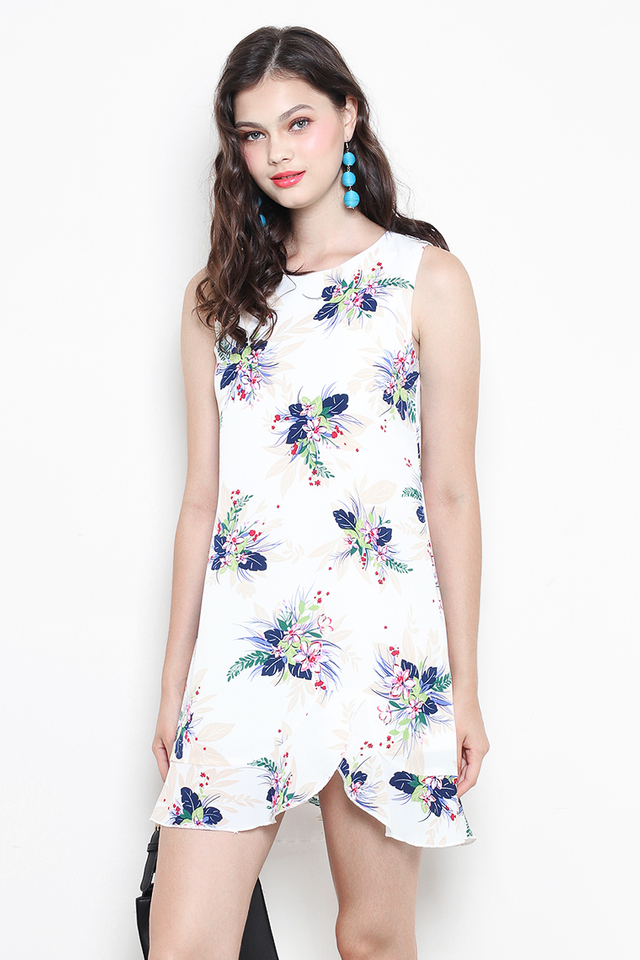 Carlie Dress White Floral