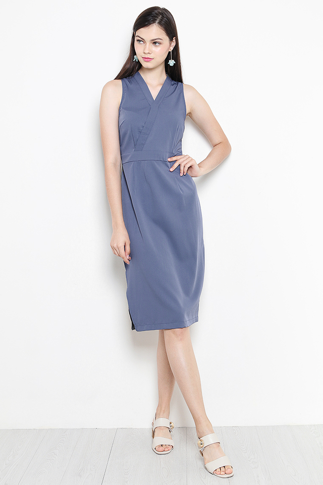 Liesel Dress Ash Blue