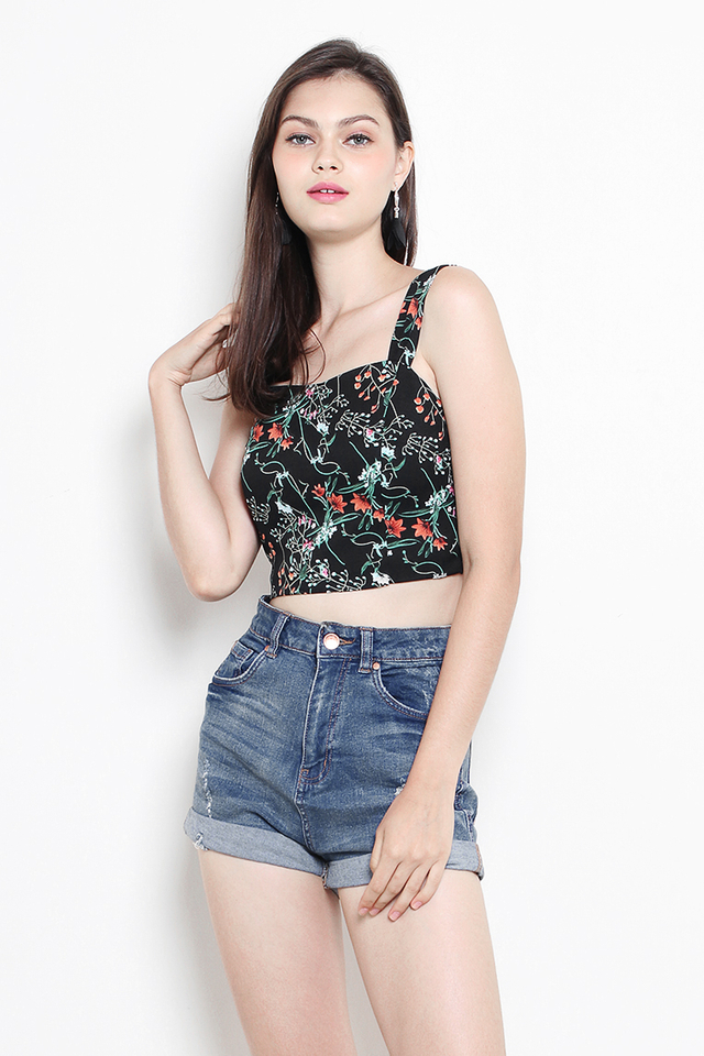 Leandra Bralet Black Floral