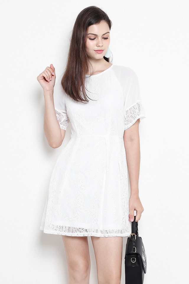Davida Lace Dress White