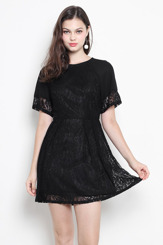 Davida Lace Dress Black