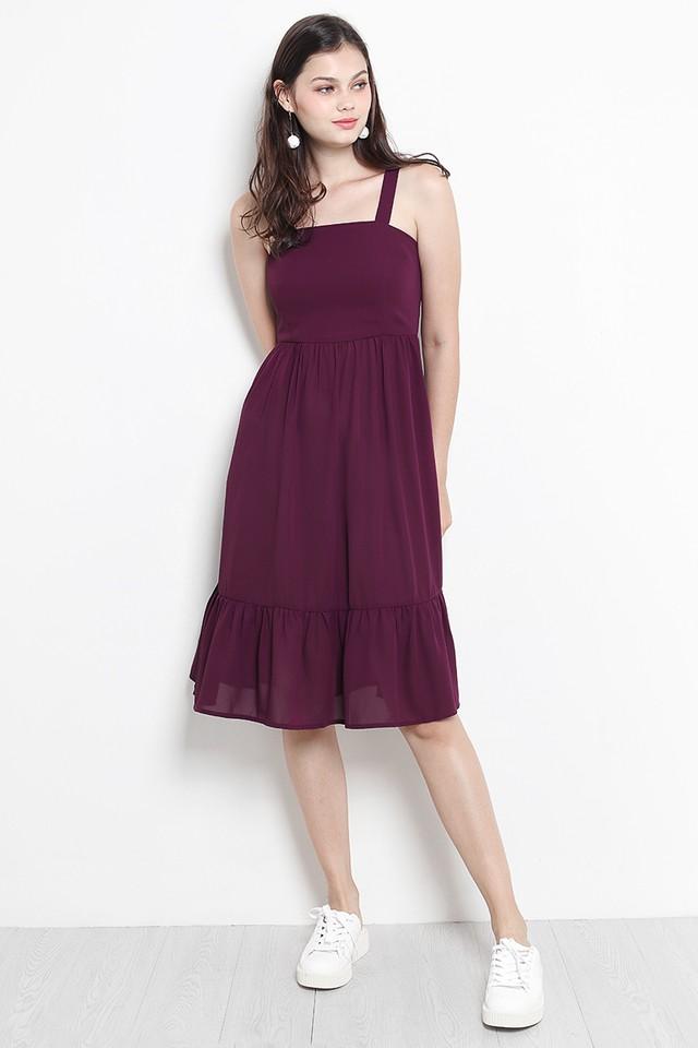 Aretha Dress Burgundy