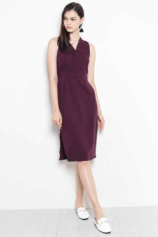 Liesel Dress Burgundy