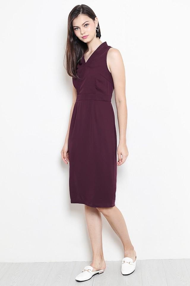 Liesel Dress Burgundy