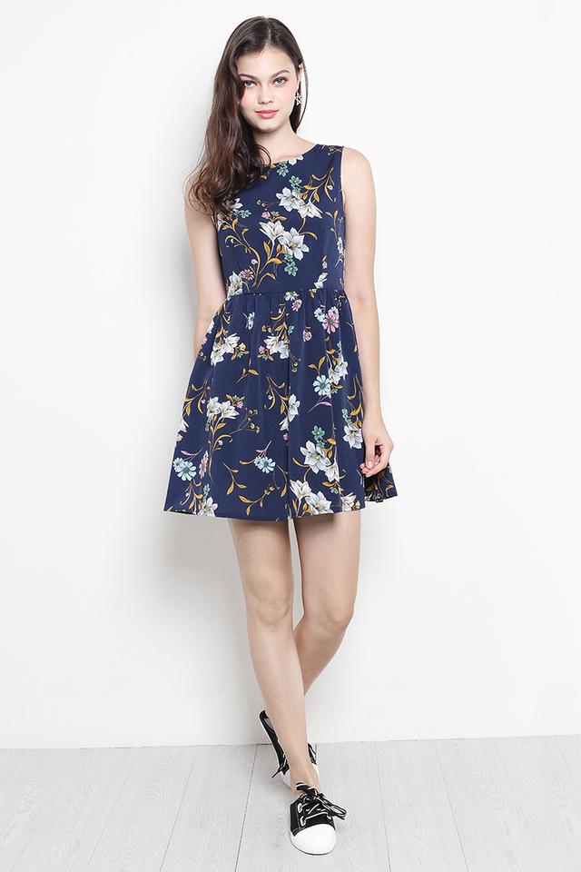 Perrie Dress Navy Floral