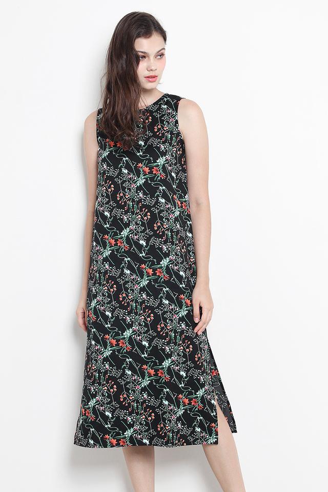 Tara Dress Black Floral