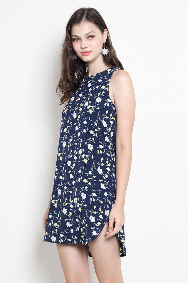 Andie Dress Navy Floral